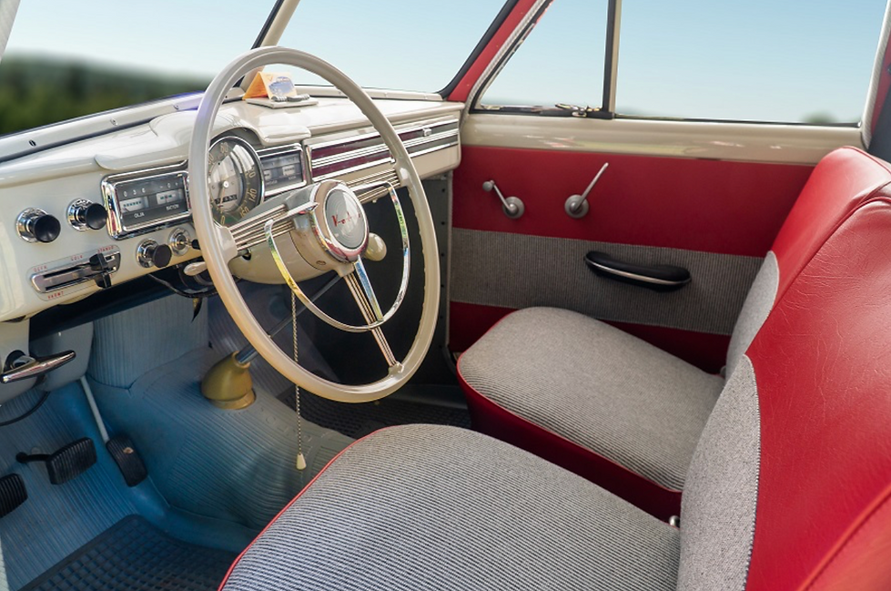 Volvo PV544 interior restored