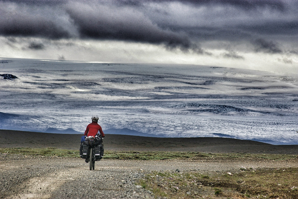 Cycle touring Iceland's interior. K35 Kjour route.