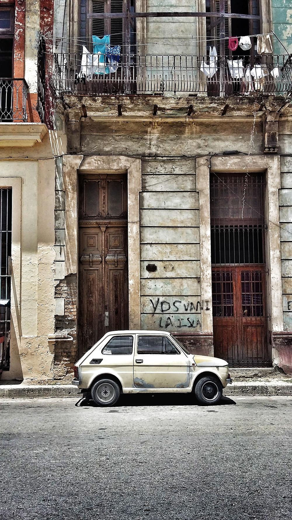 Polski Fiat 126 in Havana, Cuba