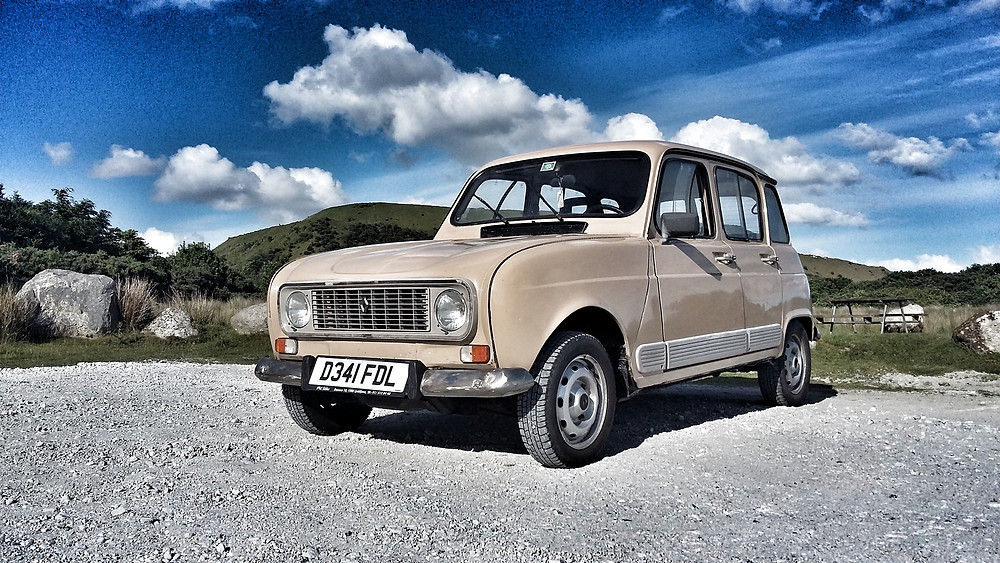 Beige Renault 4 in UK