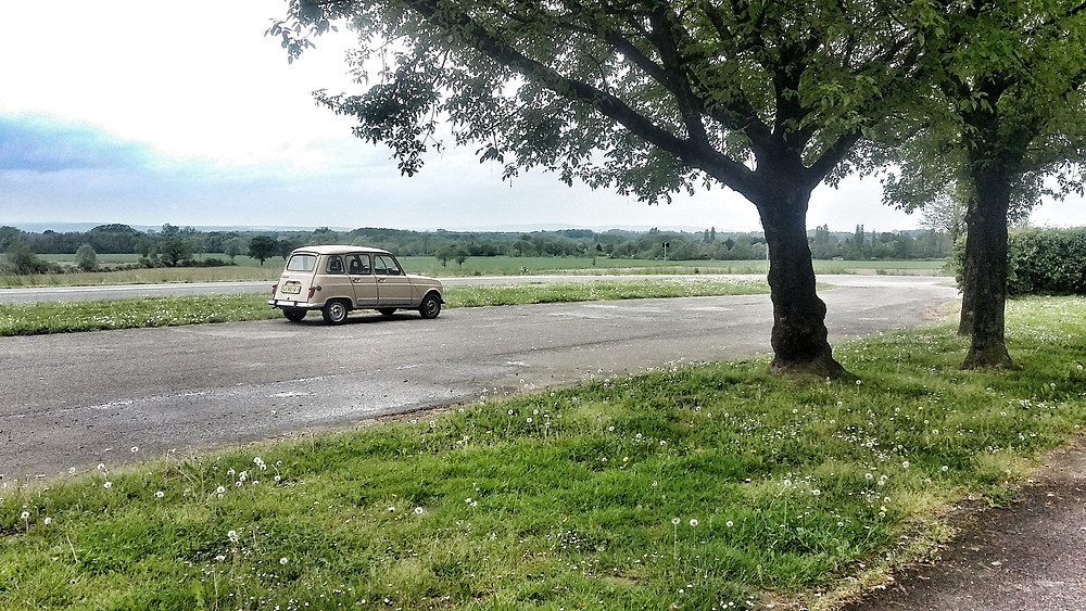 French classic car road trip