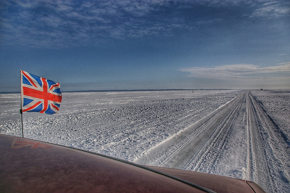 Driving Estonia's Ice Roads.