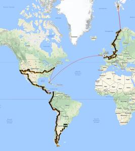 Pub2Pub Expedition - the route.