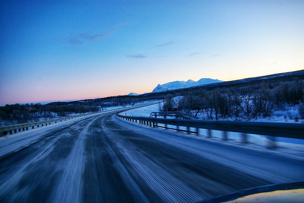 Norway's Arctic Highway in Winter