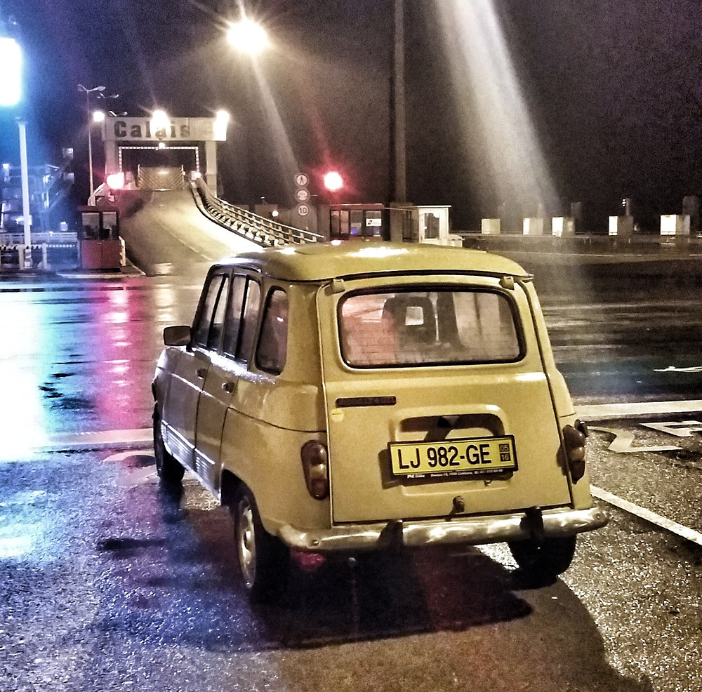 Renault 4 at the Port of Calais