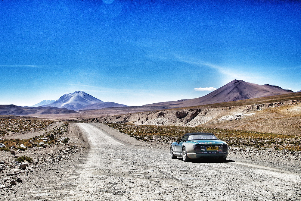 Overland Panamerican highway expedition in Bolivia, TVR Chimaera