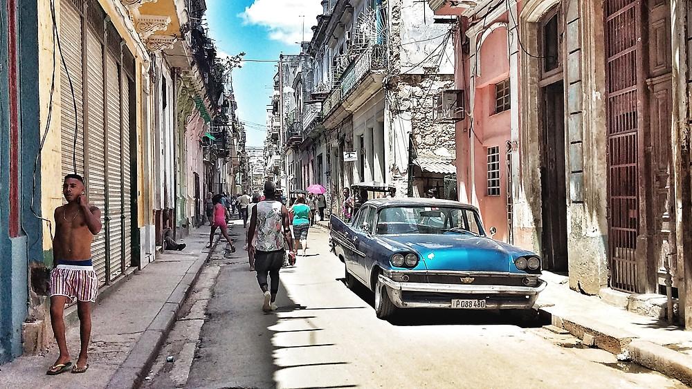Classic car in the streets of Havana, Cuba