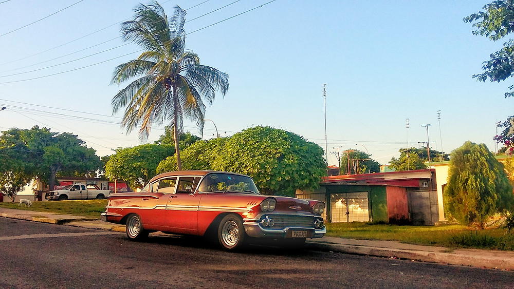 classic chevy '57 in Cuba