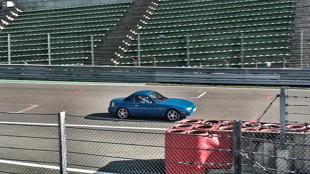 Mazda MX5 at Spa Track day