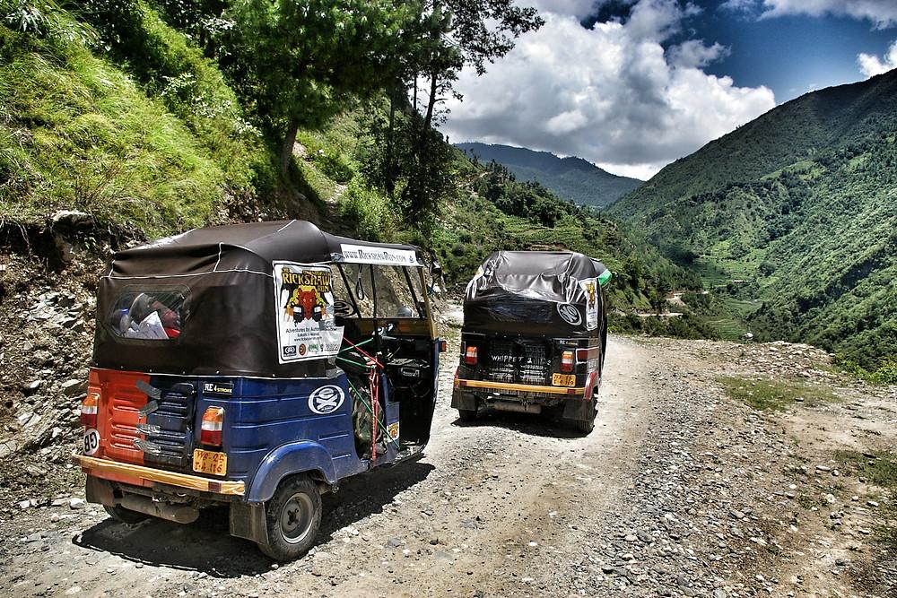 The Rickshaw Run near Kathmandu, Nepal