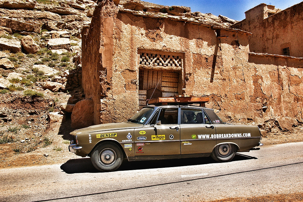 Rover P6 3500 V8, brown rally car.