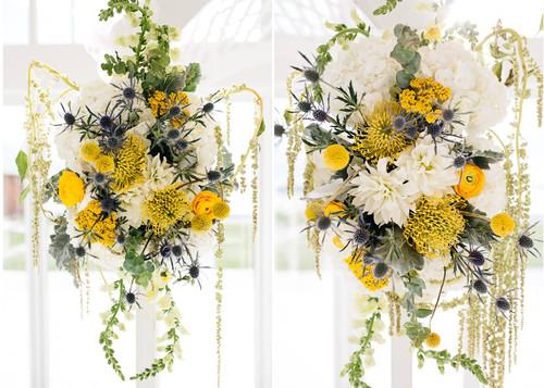 FLORALS + PLANNING + COORDINATION + STATIONERY: Angelic Affairs  PHOTO:   Frame & Anchor  VENUE:   Belle Mer  - Newport, RI   PUBLICATION:   RI Wedding Magazine