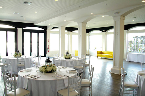Shannan + Damion   FLORALS + PLANNING + COORDINATION + STATIONERY: Angelic Affairs  PHOTO:   Frame & Anchor  VENUE:   Belle Mer @ Newport, RI  COLOR SCHEME: White, navy blue, yellow  THEME: New Orleans Meets Vintage New England   PUBLICATION:   RI Wedding Magazine