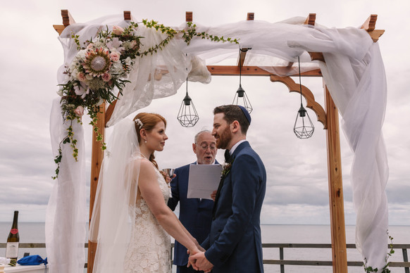 Allison + Steven   FLORALS + PLANNING + COORDINATION Destination Azores  PHOTO Vitor Gordo Photography  VENUE White @ Lagoa   THEME Azorean Romance  COLOR SCHEME White, blush pink, green, navy blue accents