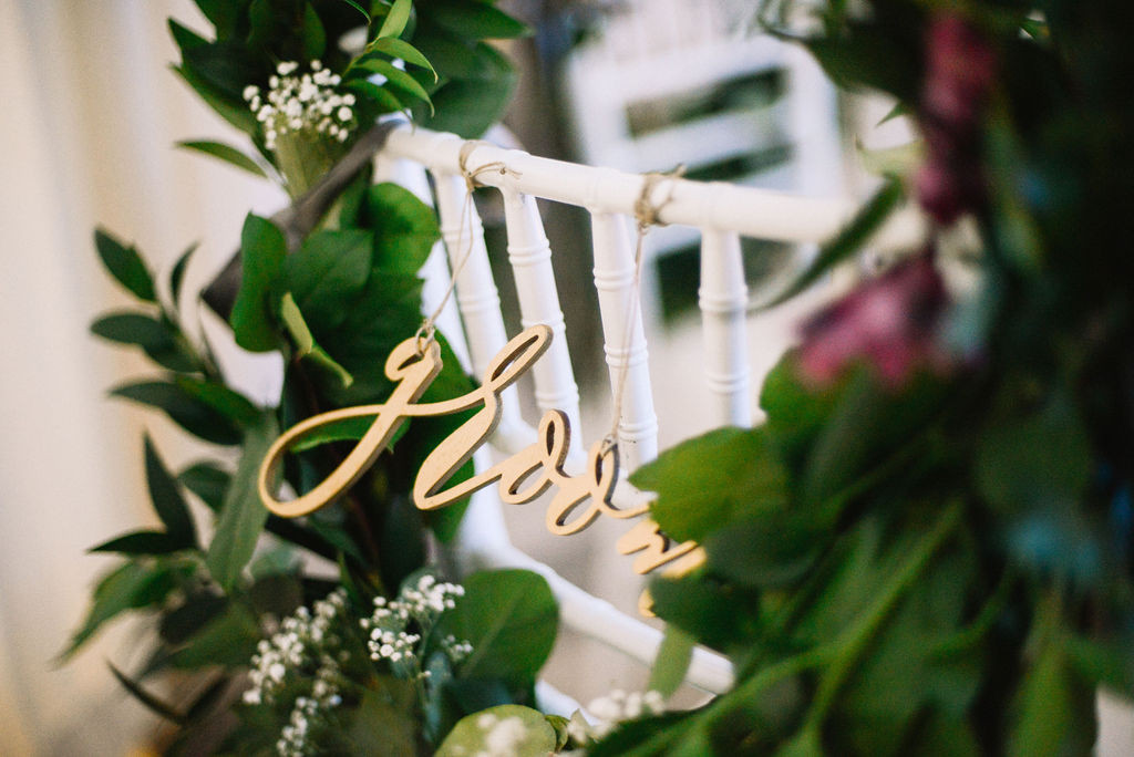 Bride + Groom's Chair Decor