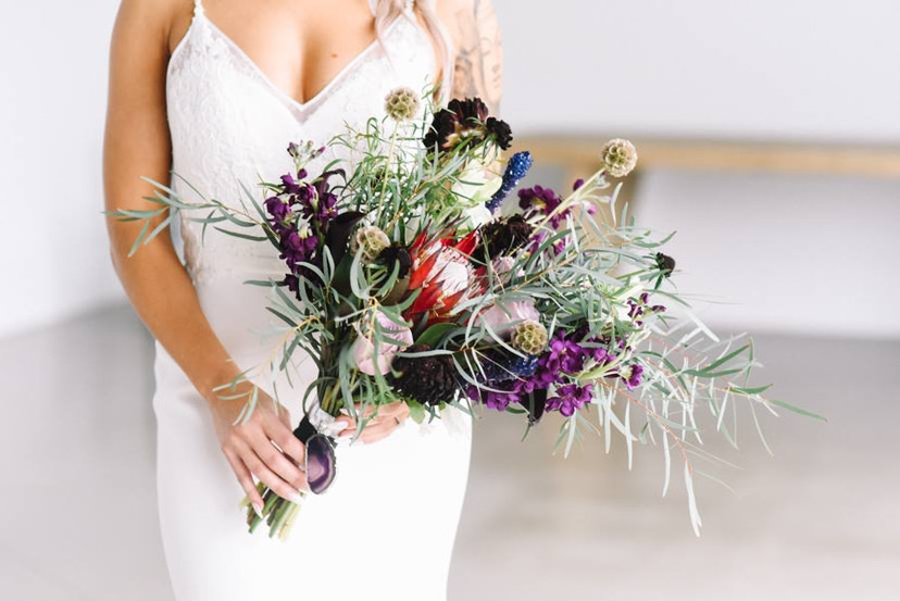 Nicky + Joey   BRIDAL BOUQUET Angelic Affairs  PHOTO Caitlin Mahoney Photography  VENUE Newport Beach House @ Newport, RI   THEME Offbeat Geode Rock Candy  COLOR SCHEME Burgundy, green, pink, purple, white, gold, lavender, silver