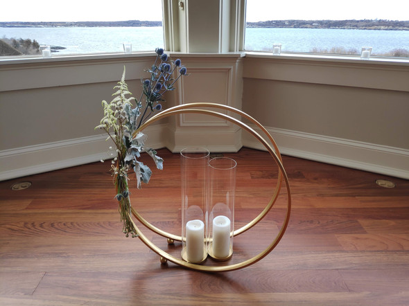 Altar Decor:  Geometric Winter Glam