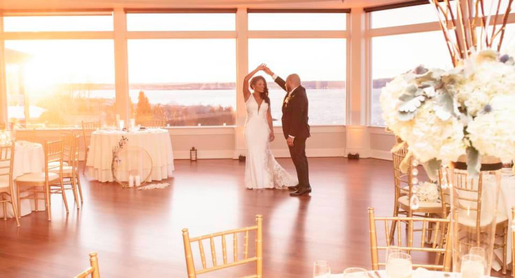 Tanyia + Angel   FLORAL Angelic Affairs  VENUE OceanCliff @ Newport, RI   THEME Winter glam  COLOR SCHEME White, navy blue, dusty blue, gold