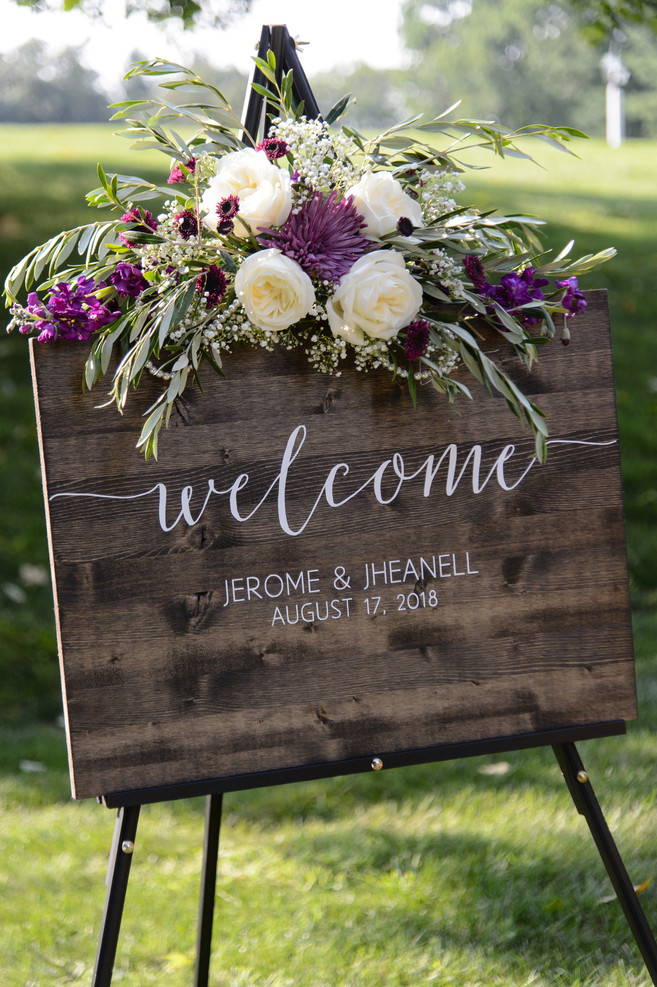 Welcome Sign Floral Swag