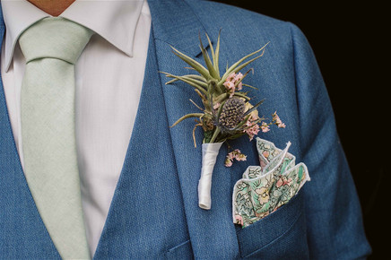 FLORAL BOUTONNIERE & WEDDING PLANNING BY: Destination Azores  PHOTO BY:   Vitor Gordo Photography  VENUE:   Santa Barbara Eco Beach Resort   - Sao Miguel, Azores