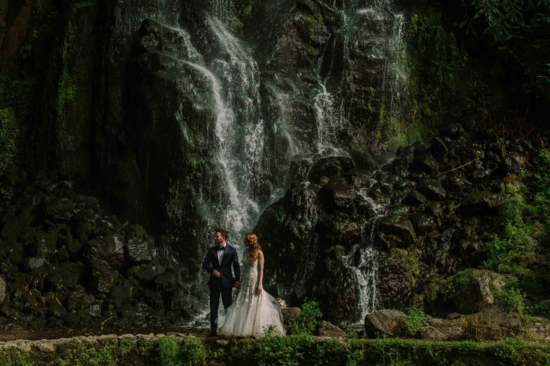 Allison + Steven   FLORALS + PLANNING + COORDINATION Destination Azores  PHOTO Vitor Gordo Photography  SITE Ribeira dos Caldeirões @ Nordeste   THEME Azorean Romance  COLOR SCHEME White, blush pink, green, navy blue accents