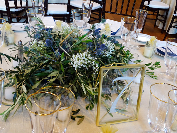 Freshly Modern in the City Reception Decor + Coordination