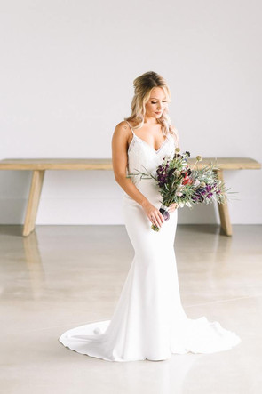 Offbeat Geode Chic Bridal Bouquet  PHOTO BY Caitlin Mahoney Photography