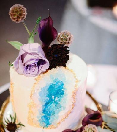 Geometric Geode Cake Decor