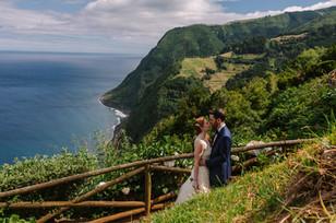 Allison + Steven   FLORALS + PLANNING + COORDINATION Destination Azores  PHOTO Vitor Gordo Photography  SITE Miradouro da Ponta do Sossego @ Nordeste   THEME Azorean Romance  COLOR SCHEME White, blush pink, green, navy blue accents