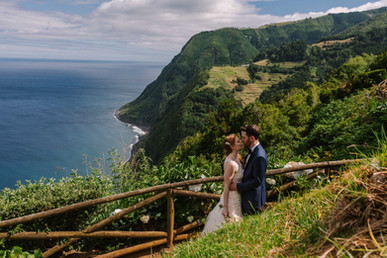 Allison + Steven   FLORALS + PLANNING + COORDINATION Destination Azores  PHOTO Vitor Gordo Photography  SITE Miradouro da Ponta do Sossego @ Nordeste   THEME Azorean Romance  COLOR SCHEME White, blush pink, green, navy blue accents