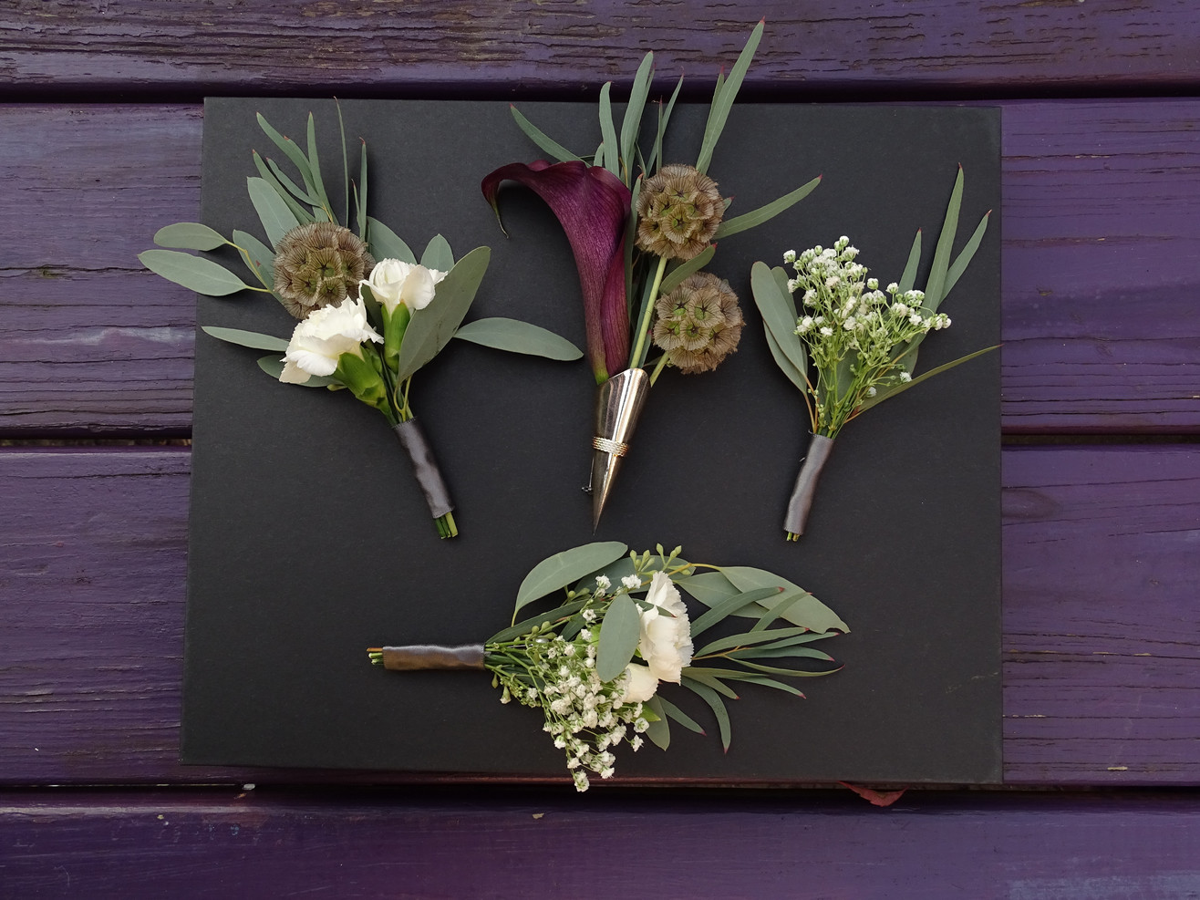 Offbeat Modern Boutonniere Suite
