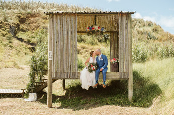 Andrea + John   FLORALS + DECOR + OFFICIATING + PLANNING + COORDINATION Destination Azores  PHOTO Vitor Gordo Photography  VENUE Santa Bárbara Eco Beach Resort @ Ribeira Grande   THEME Romantic Azorean Elopement  COLOR SCHEME White, coral pink, blush pink, peach, green, blue