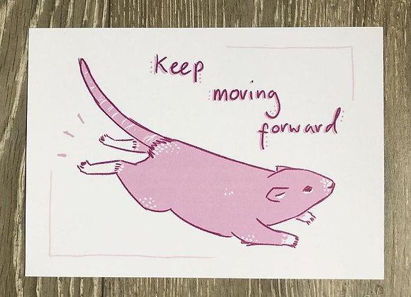 Keep Moving Forward - Art Print