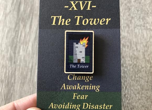 The Tower Tarot Pin