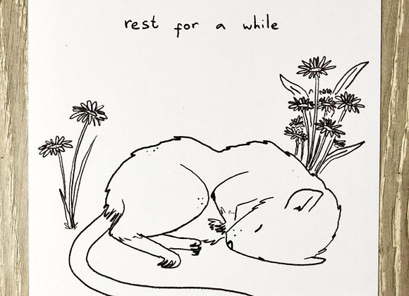 rest for a while Art Print