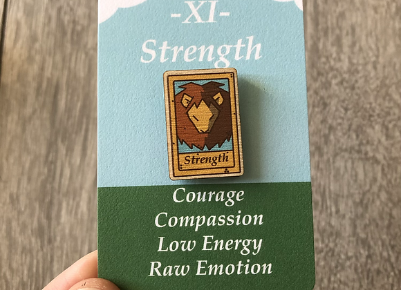Strength Tarot Pin