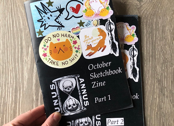 October Sketchbook Zine's 2020