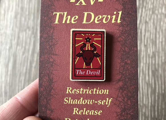 The Devil Tarot Card Pin