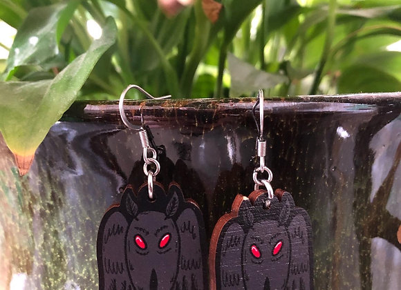 Mothman Earrings