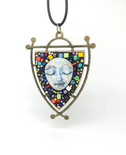 Maryellen Siegel_mosaic neclace with face