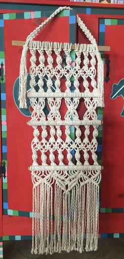 Kathy LaLonde_macrame wall hanging