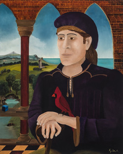 KPDevlin_Portait of a man with a Cardinal