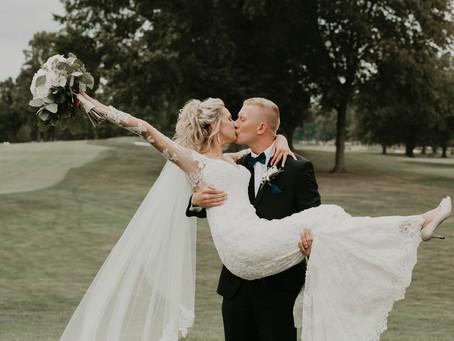 Alyssa + Jake: Cathedral + Country Club Wedding Akron Ohio