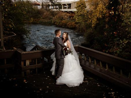 Michelle + Evan's November Wedding