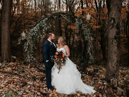 Katie + Andrew's Vibrant Autumn Wedding at Rivercrest Farm