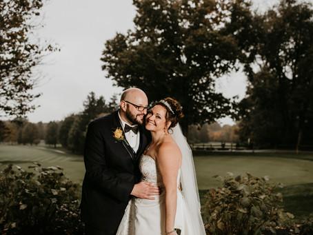 Angela + Geoffrey's October Country Club Wedding