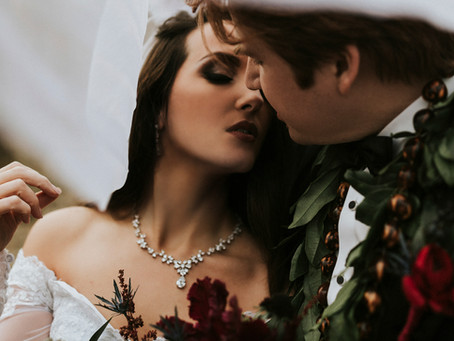 Caitlin + Dane Medieval-Themed Wedding at the Castle in the Forest