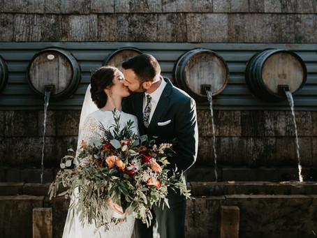 Hannah + Greg's October Wedding at Sapphire Creek Winery & Gardens