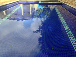 Ornately Tiled Grecian Styled Pool - Copy
