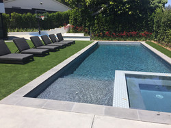 New Pool & Spa with Tiles Surround